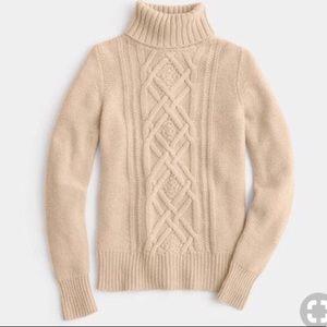 J. Crew Cream Cambridge Turtleneck Sweater M